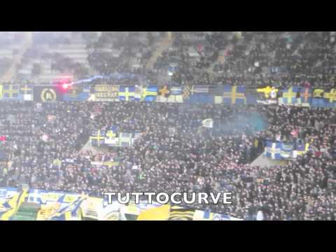Tifo curva Sud Verona contro il Napoli