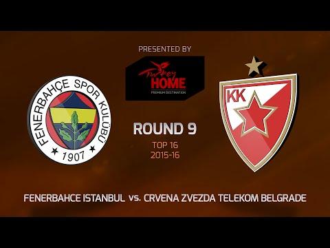 Highlights: Top 16, Round 9, Fenerbahce Istanbul 72-65 Crvena Zvezda
