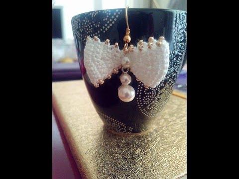 uncinetto - orecchino con perle