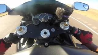 2. Yamaha R6 top speed @178 mph + Races a (rare) kawasaki Zx-12R