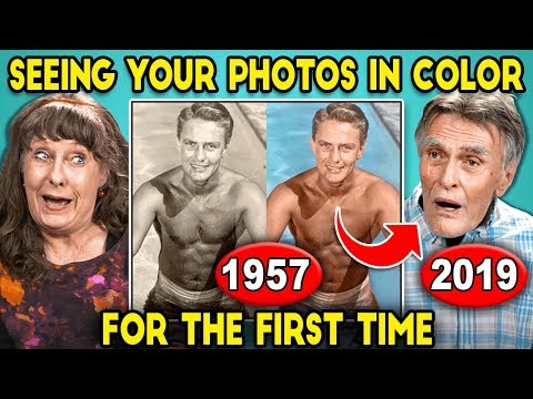Elders React To Seeing Their Black And White Photos In Color For The First Time