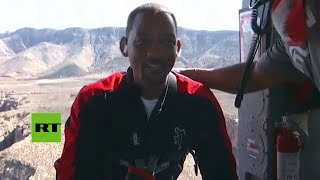 Will Smith cumple 50 años con un salto cerca del Gran Cañón