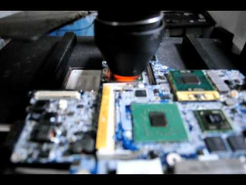 IR BGA reflow of a Dell D620 Intel laptop with a Nvidia G86-620-A2