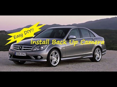 Mercedes W204 C Class How to Install Back Up Reverse Camera COMAND Command APS Navigation