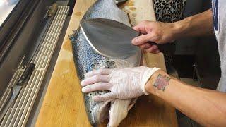 Video How to Fillet a Salmon for Sashimi MP3, 3GP, MP4, WEBM, AVI, FLV September 2019