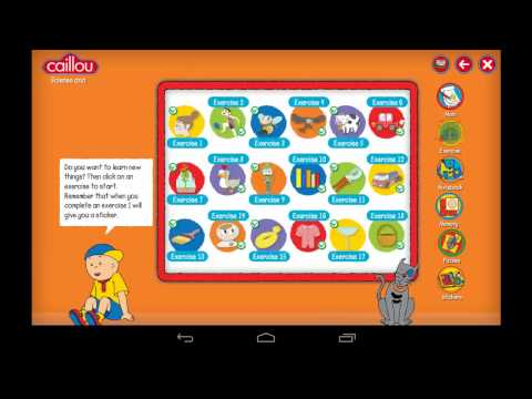 Video of Caillou learning for kids
