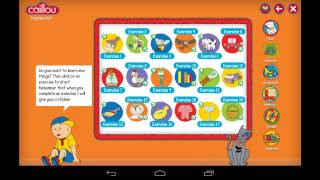 Caillou learning for kids YouTube video
