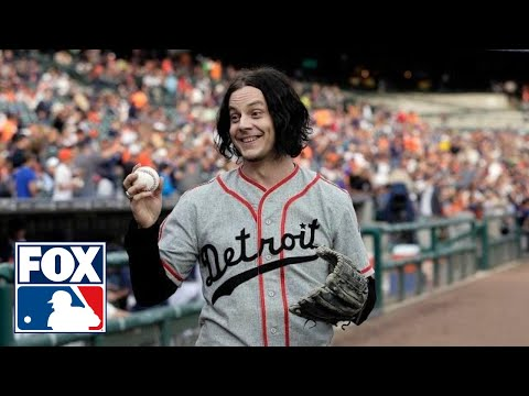 Video: Jack White throws first pitch for hometown Tigers