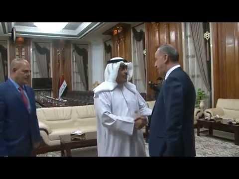العبيدي يستقبل رئيس اتحاد الصحفيين العرب ووفدا من الاعلاميين الكويتيين ويؤكد: داعش على وشك النهاية
