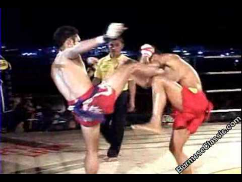 Soe Lin Oo (Myanmar golden belt champion) VS Thai fighter