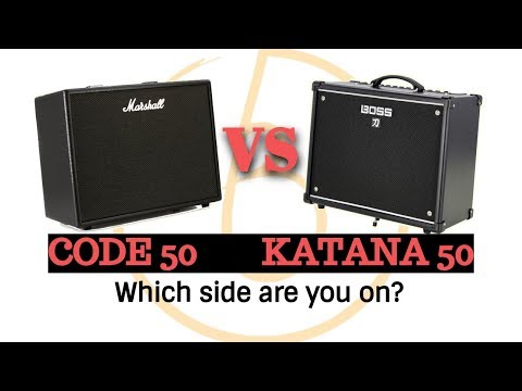 BOSS vs MARSHALL: Katana 50 vs Code 50 Modelling Combo Amp Shootout