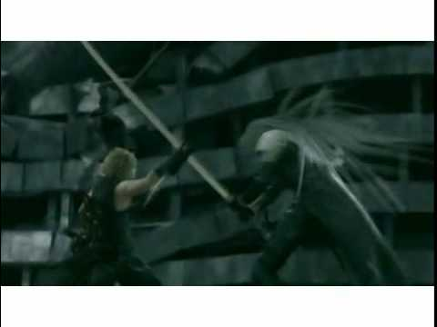 Cloud VS Sephiroth-RED START AGAIN - Final Fantasy VII Advent Children Complete.
