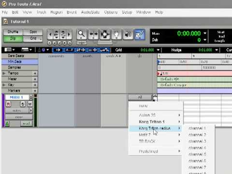 Tutorial: Pro Tools for Beginners 1: Midi Studio, I/O, and memory allocation.