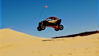 9. CanAm Maverick X3 Turbo Jumps at Silver Lake Sand Dunes!