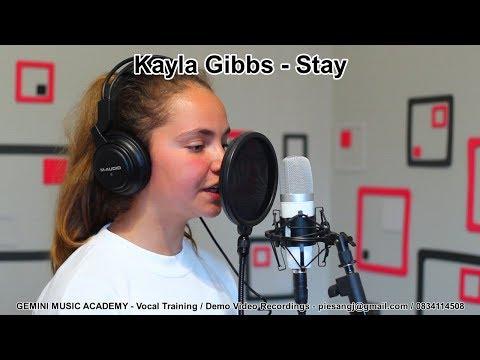 "Kayla Gibbs singing ""Stay"""
