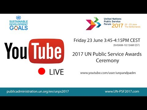 2017 UN Public Service Awards Ceremony. National AIDS Center receives the first place award
