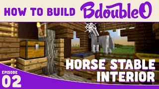Minecraft How to build :: Horse Stable Interior