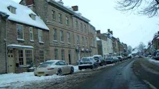 Woodstock United Kingdom  city photo : Woodstock UK drive through from the North, 19th Dec.2010 in snow..AVI