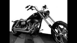 10. Custom Harley Davidson Dyna Street Bob - 240 wide rear tire - Raked
