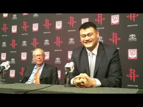 Yao Ming Jersey Retirement -- Full Press Conference