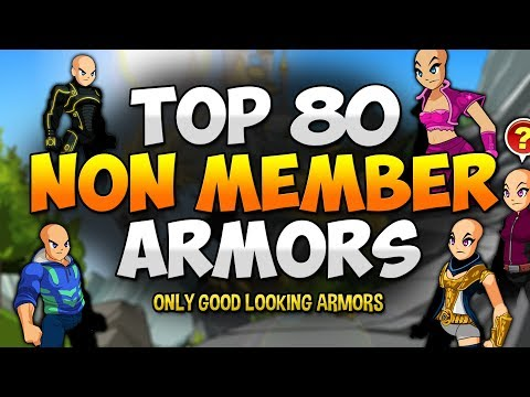Top 80 Non Member ARMORS! (NOT RARE) AQW AdventureQuest Worlds