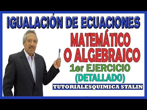 IGUALACION DE ECUACIONES POR EL METODO ALGEBRAICO (DETALLADO)