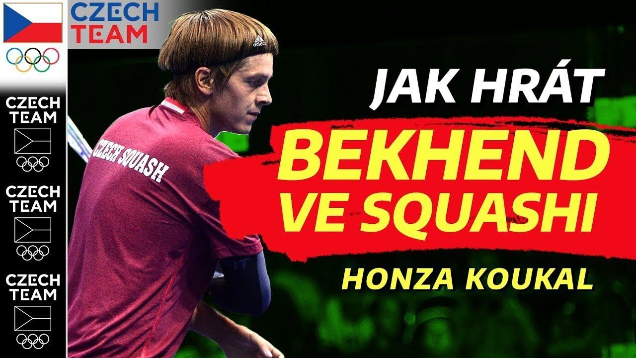 Jak hrát bekhend ve squashi?