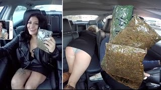 Selling Massive Amounts Of Marijuana While Driving For Uber Prank!!