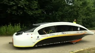 Solar car title holders say their new five-seater model marries style and high-speed performance.Subscribe here: https://goo.gl/GHXtS1Follow us on Twitter: @boomlive_inLike us on: facebook.com/boomnews