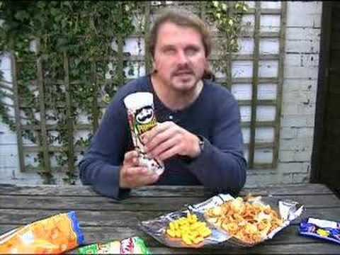 crisp - Paul explores the potato chip taste sensation. This man is the connoisseur of crisps. No one knows more about fried potato!