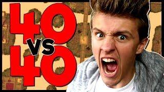 •40 VS 40 BEDWARS!? | Minecraft Livestream | Bedwars Castles Limited Time Gamemode