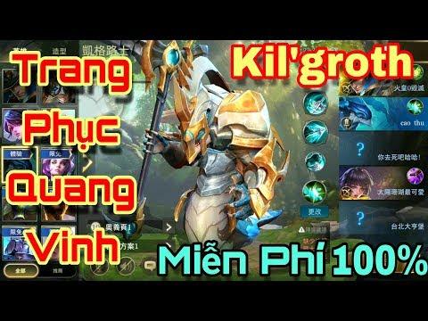 [Gcaothu] Trang phục mới Kil'groth Quang Vinh ngoại hình khổng lồ - Trang phục miễn phí 100%