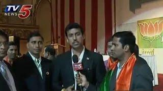 NRI BJP Cadre Arrangements for Modi America Tour : TV5 News