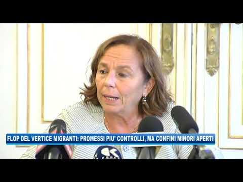 08/09/2020 - FLOP DEL VERTICE MIGRANTI: PROMESSI PIU' CONTROLLI MA CONFINI MINORI APERTI