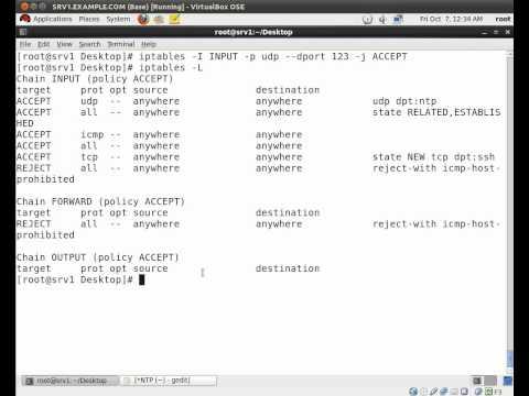 How to setup a NTP server on RHEL 6 (видео)