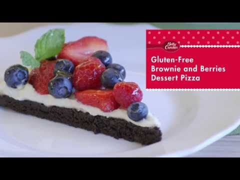 Gluten Free Brownie and Berries Dessert Pizza Recipe - Betty Crocker™