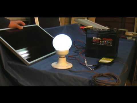 Our Simple Solar Lighting System by Walt Barrett