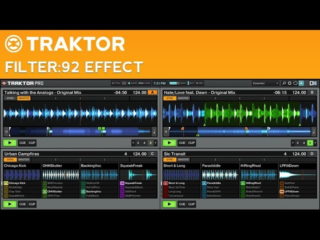 Traktor Pro 2 Filter:92 Effect Tutorial