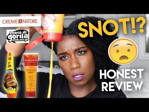 WHAT IS THIS!?! Battle Of The SNOTS - Gorilla Snot Gel vs. Creme of Nature Snot Gel