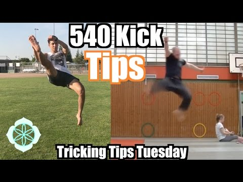 How to Improve your 540 Kick | Tricking Tips Tuesday (видео)