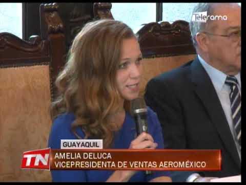 Aeroméxico opera con 3 vuelos semanales desde Guayaquil a Ciudad de México