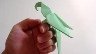 Origami Kağıt Katlama Sanatı Papağan yapılışı