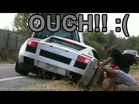 lamborghini gallardo - sound and crash!