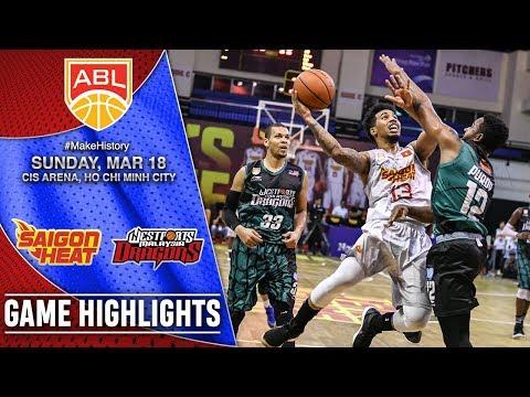 Saigon Heat vs Westports Malaysia Dragons | HIGHLIGHTS | 2017 2018 ASEAN Basketball League