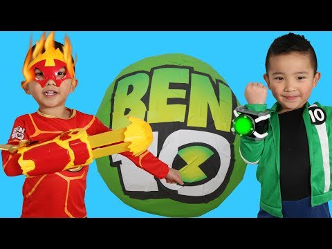 BIGGEST NEW BEN 10 Toys Collection Giant Surprise Egg Opening Fun With Ckn Toys