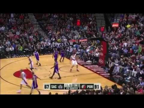 Meyers Leonard's Two-Handed Putback Dunk on Kings