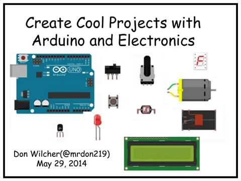 Create Cool Projects with Arduino and Electronics – O'Reilly Webcast