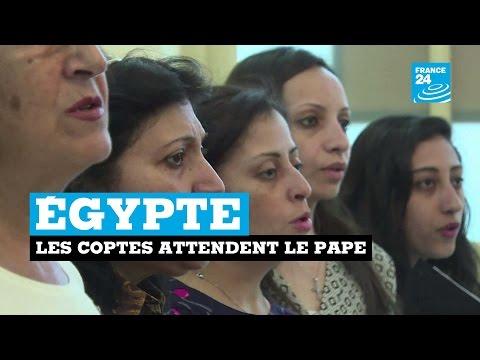 LES COPTES D'EGYPTE ATTENDENT LA VENUE DU PAPE
