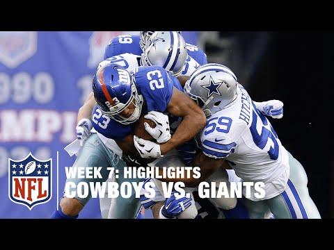 Cowboys vs. Giants | Week 7 Highlights | NFL