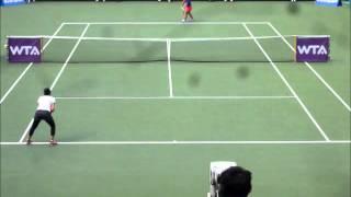■ JAPAN WOMEN'S OPEN TENNIS 2014 ■ Zarina DIYAS VS Luksika KUMKHUM part7